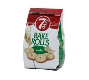 7 Day's Bake rolls mini, češnjak